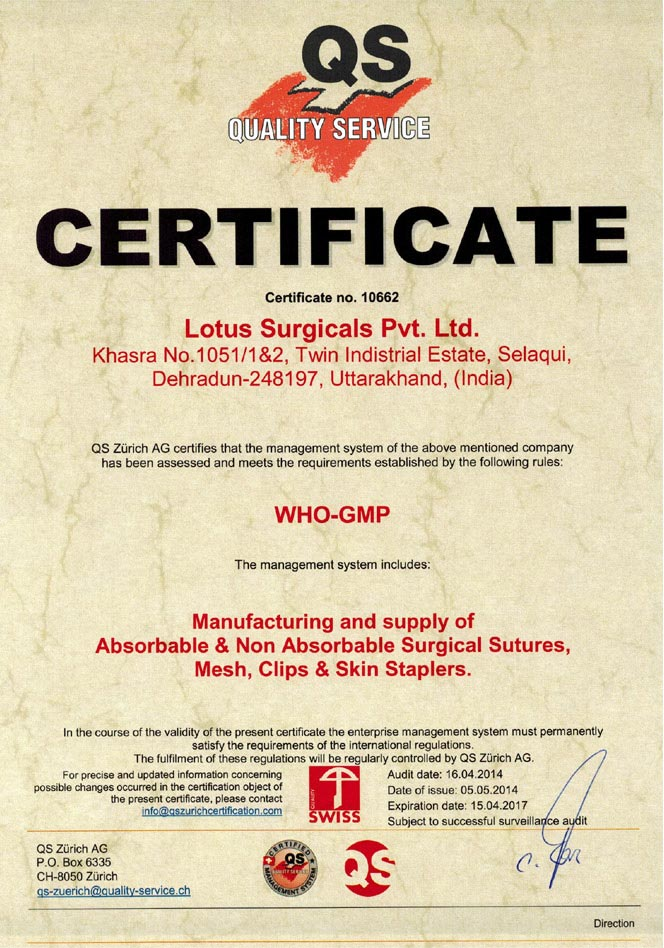 Lotus Surgicals Pvt Ltd Mumbai India Surgical Suture
